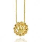 Gargantilha Semi Joia Mandala Dourado