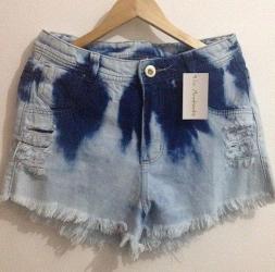 Detalhes do produto Short Jeans Rajado
