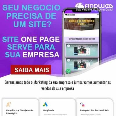 Detalhes do produto PLATAFORMA DE SITE ONE PAGE